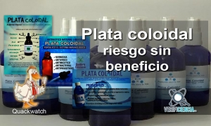 Plata coloidal: riesgo sin beneficio